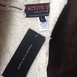 active usa Jackets & Coats - Faux fur vest